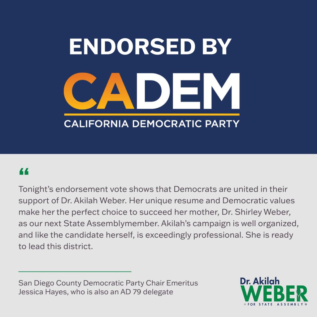 California Democratic Party Endorsement